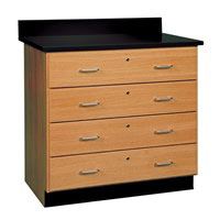 Base Cabinets with Locking Drawers