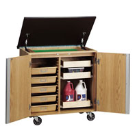 Mobile Storage Cart with Markerboard Top