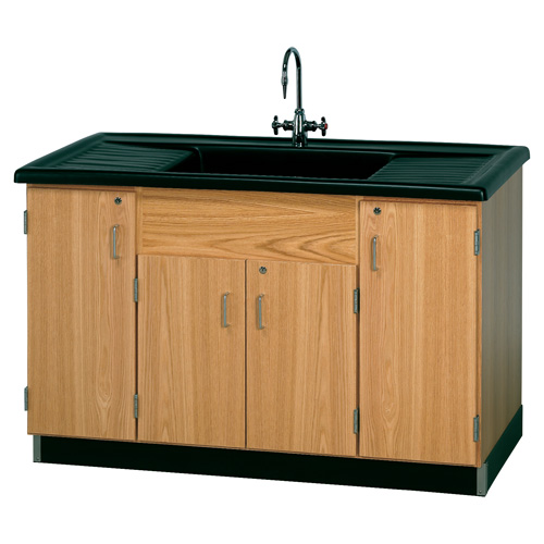 Lab Sink : Diversified Woodcrafts Science Lab Clean Up Sink and Faucet