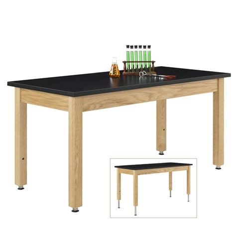Adjustable Wooden Leg Table