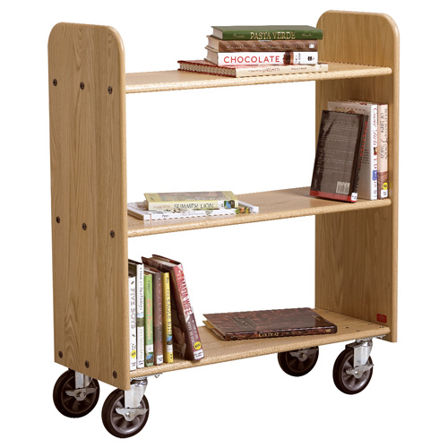 Book Trucks with Sloped and Flat Shelves