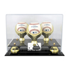 Golden Classic Three Ball Display Case with MLB Team Logo