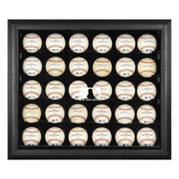 Black Framed 30-Ball Display Case with MLB Team Logo