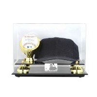 Acrylic Cap and Baseball Display Case with MLB Team Logo
