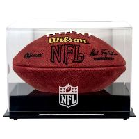 Black Base Football Display Case with NFL Team Logo