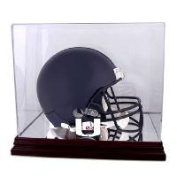 Mahogany Helmet Display Case with NCAA Logo