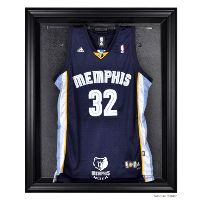 Black Framed Jersey Display Case with NBA Team Logo