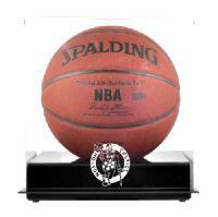 Blackbase Basketball Display Case with NBA Team Logo