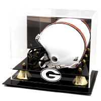 Golden Classic Mini Helmet Display Case with NCAA Logo