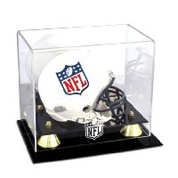 Golden Classic Mini Helmet Display Case with NFL Team Logo
