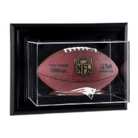 Black Framed Wall Mounted Football Case with NFL Logo