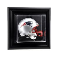 Black Framed Wall Mounted Mini Helmet Display Case with NFL Team Logo