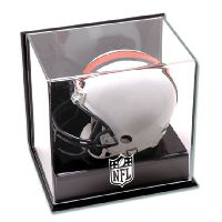 Wall Mounted Mini Helmet Display Case with NFL Team Logo