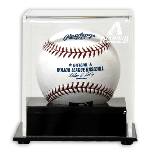Deluxe Single Ball Cube Display Case with MLB Team Logo