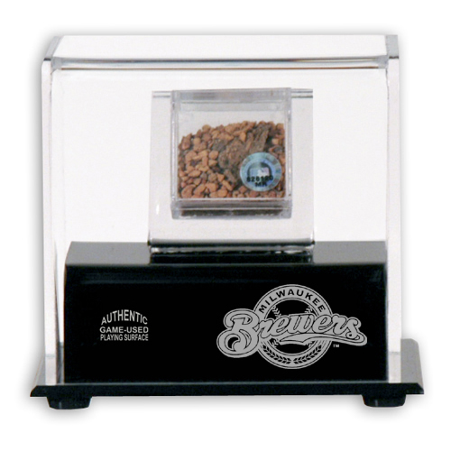 Game Used Infield Dirt and Display Case with MLB Team Logo