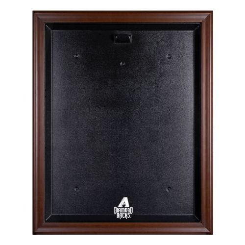 Brown Framed Jersey Display Case with MLB Team Logo