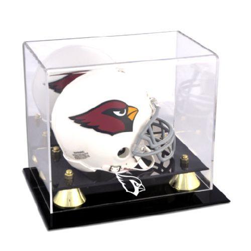 Golden Classic Mini Helmet Display Case with NFL Team Logo