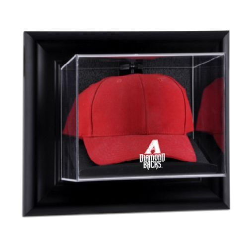 Framed Wall Mounted Cap Display Case with MLB Team Logo