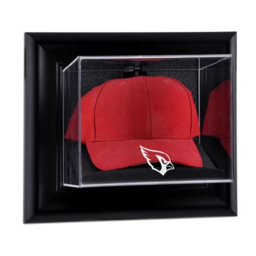 Black Framed Wall Mounted Cap Display Case with NFL Team Logo