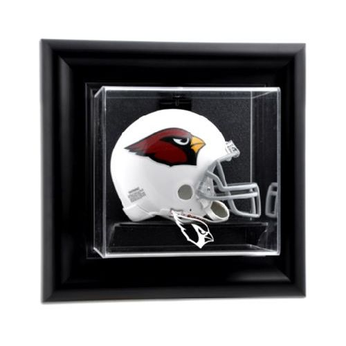 Black Framed Wall Mounted Mini Helmet Display Case With