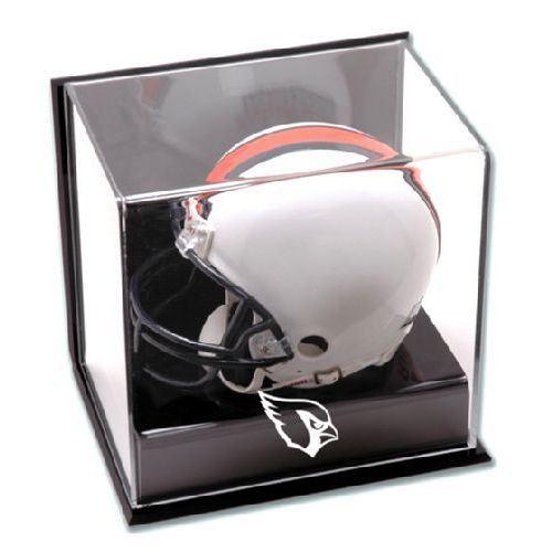 Wall Mounted Mini Helmet Display Case with NFL Team Logo