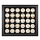 Black Framed 30-Ball Display Case with MLB Team Logo
