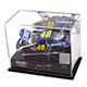 NASCAR 1/24th Die Cast Display Case w/Platform and Race Used Sheet Metal