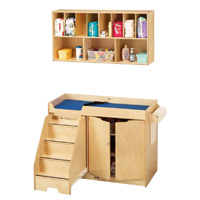 Changing Table with Stairs