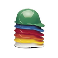 6 Point Suspension Slotted Hard Hats