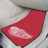 Detroit Red Wings (Red) 2-Piece Printed Carpet Car Mat Set - 18 x 27