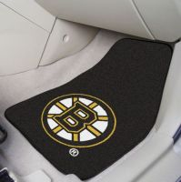 Boston Bruins 2-Piece Printed Carpet Car Mat Set - 18 x 27