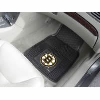 Boston Bruins 2-Piece Heavy Duty Vinyl Car Mat Set - 18 x 27