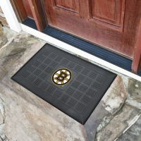 Boston Bruins Medallion Door Mat - 20 x 30