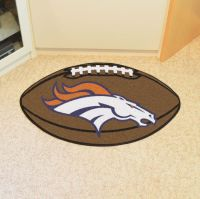 Denver Broncos Football Mat - 22 x 35