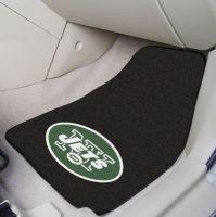 New York Jets 2-Piece Carpeted Car Mats - 18 x 27