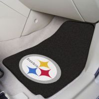 Pittsburgh Steelers 2-Piece Carpeted Car Mats - 18 x 27