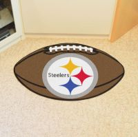 Pittsburgh Steelers Football Mat - 22 x 35