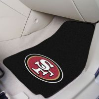 San Francisco 49ers 2-Piece Carpeted Car Mats - 18 x 27