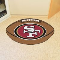 San Francisco 49ers Football Mat - 22 x 35