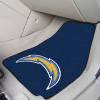 San Diego Chargers 2-Piece Carpeted Car Mats - 18 x 27