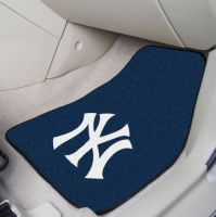 New York Yankees 2-PC Printed Carpet Car Mat Set - 18 x 27