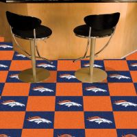 Denver Broncos Carpet Tiles - 18 x 18 Tiles
