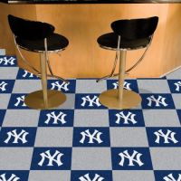 New York Yankees Carpet Tiles - 18 x 18 (10 Logo/10 Solid Tiles)