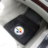 Pittsburgh Steelers Heavy Duty 2-Piece Vinyl Car Mats - 18 x 27