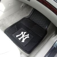 New York Yankees Heavy Duty 2-Piece Vinyl Car Mats - 18 x 27