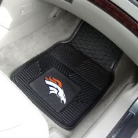 Denver Broncos Heavy Duty 2-Piece Vinyl Car Mats - 18 x 27