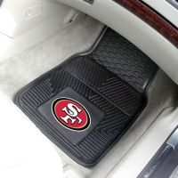 San Francisco 49ers Heavy Duty 2-Piece Vinyl Car Mats - 18 x 27