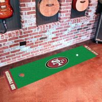 San Francisco 49ers Putting Green Mat - 18 x 72