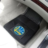 Golden State Warriors Heavy Duty 2-Piece Vinyl Car Mats - 18 x 27