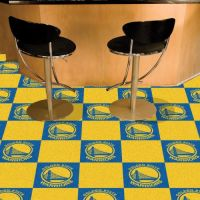 Golden State Warriors Carpet Tiles - 18 x 18 Tiles
